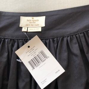 Kate Spade black cotton gathered skirt